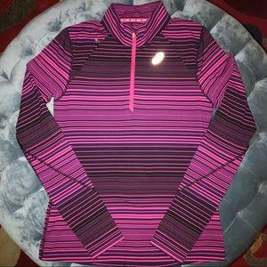 NEW! ASICS Purple/Pink Thermostripe 1/2 Zip Sz M